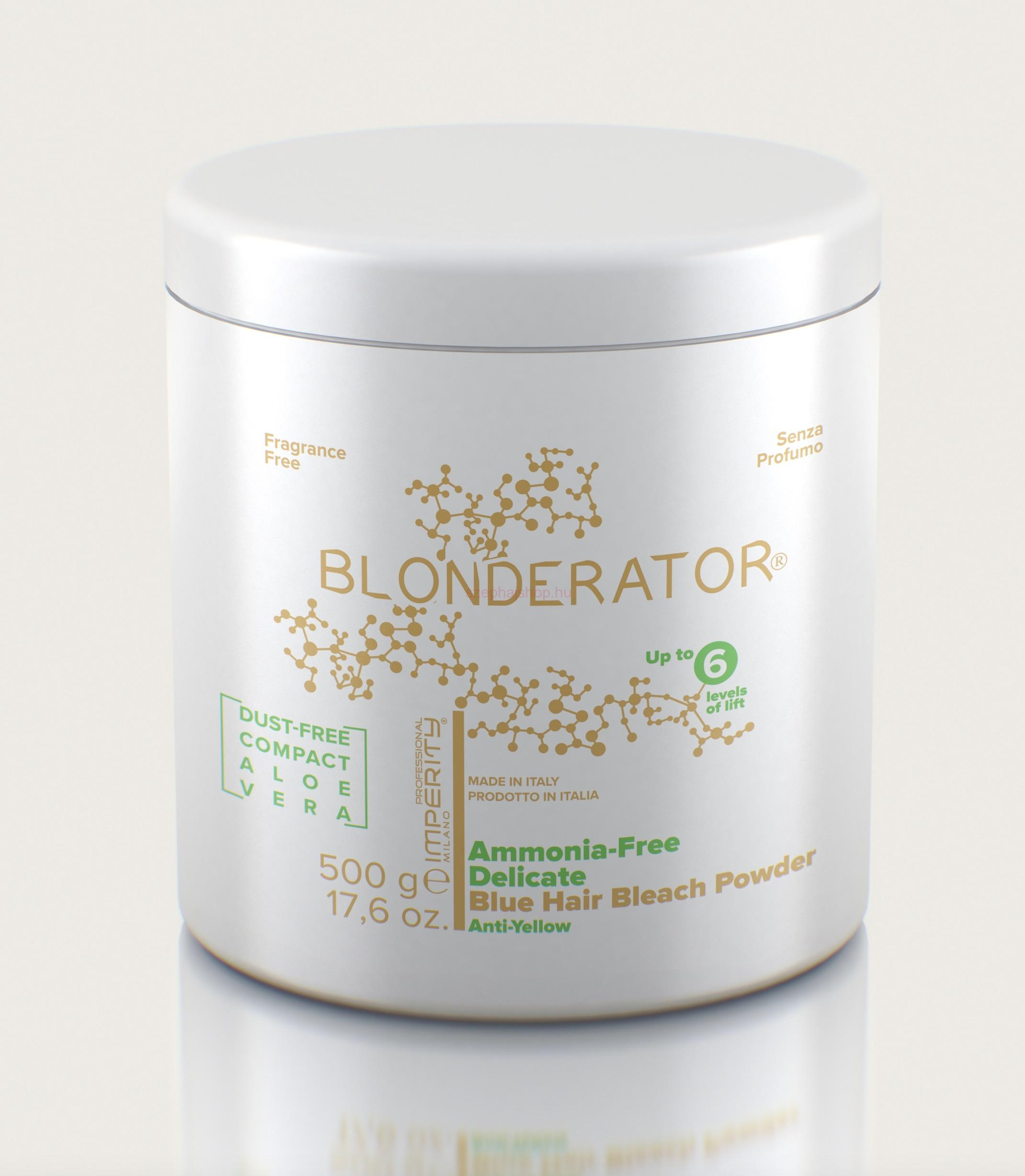 IMPERITY Blonderator Ammonia Free Delicate Blue Hair Bleach Powder Aloe V. 500 g
