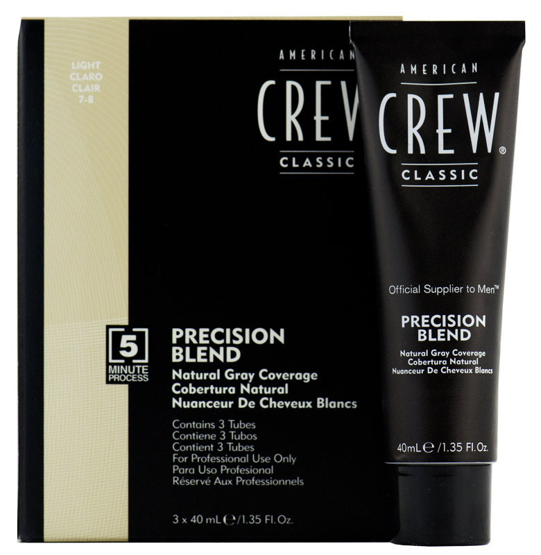 American Crew Precision Blend  Light - világos 7-8 (3 X 40 ml)