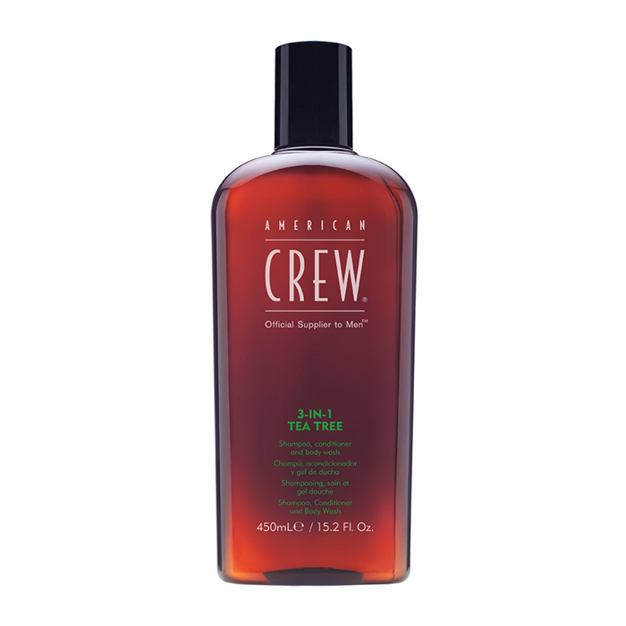 American Crew 3-in-1 Tea Tree Shampoo, Conditioner and Body Wash 450 ml