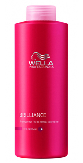 Wella Brilliance Shampoo Fine 1000 ml