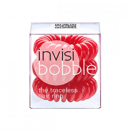 InvisiBobble spirál hajgumi 3 db (Raspberry Red - piros)