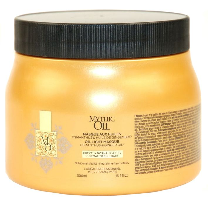 L'ORÉAL Mythic Oil Mask Normal To Fine Hair 500 ml