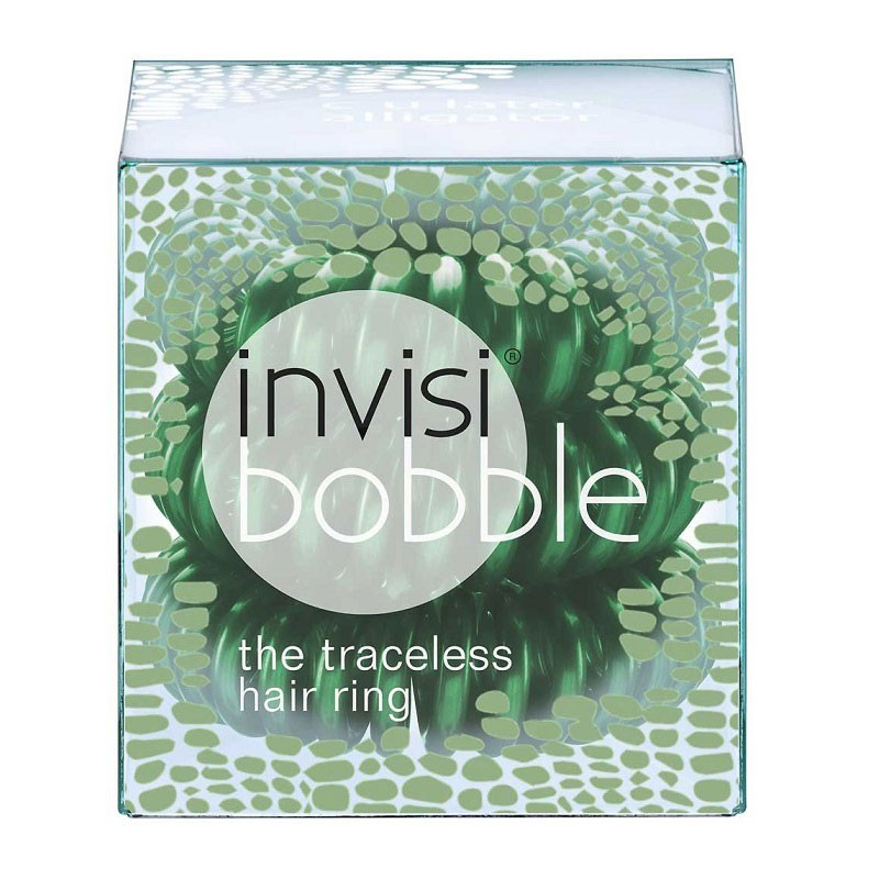 InvisiBobble spirál hajgumi 3 db (C U Later Alligator - Alligátor zöld)