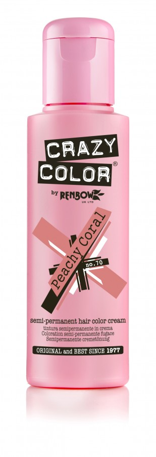 Crazy Color 70 Peachy Coral 100 ml (Hamvas Koral)