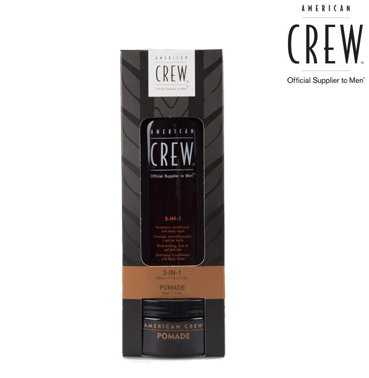 American Crew Groom to Win szett (Pomade 85g + 3in1 250 ml)
