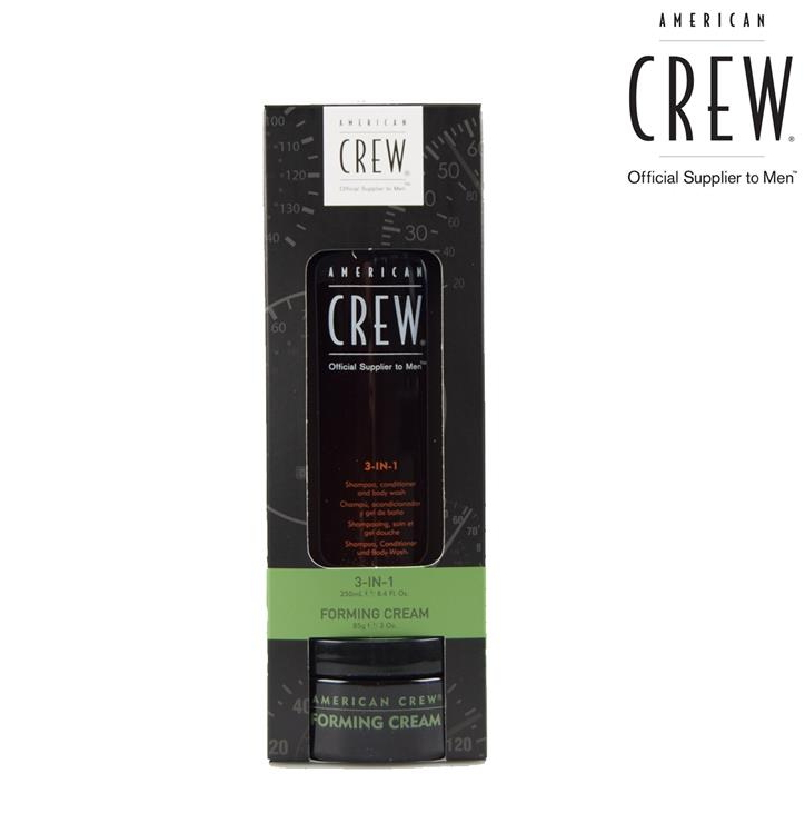 American Crew Groom to Win szett (Forming Cream 85g + 3in1 250 ml)