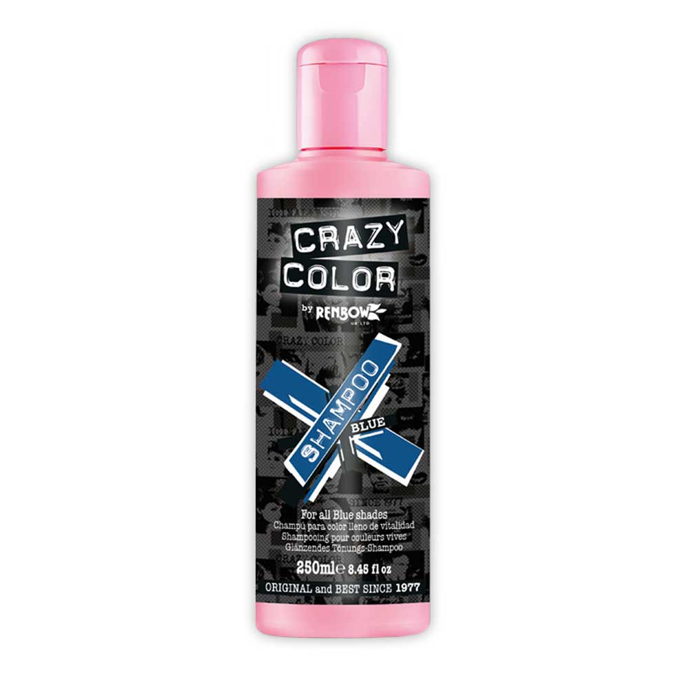 CRAZY COLOR Shampoo Blue - For all blue shades 250 ml