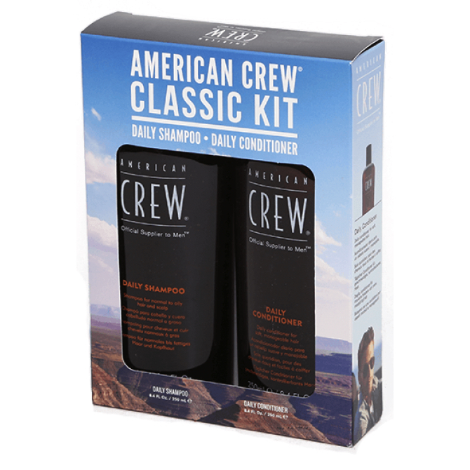 American Crew Classic Kit (Daly Shampoo 250 ml + Daly Conditioner 250 ml)