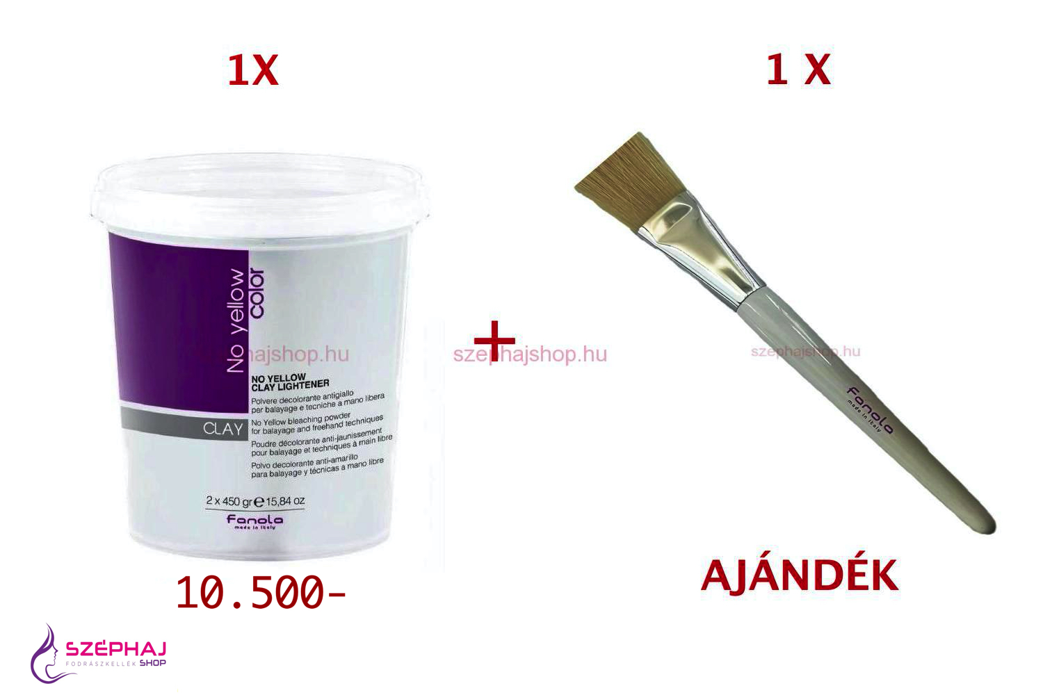 FANOLA No Yellow Color Clay Lightener Bleaching Powder 2x450 g 2+ AKCIÓ
