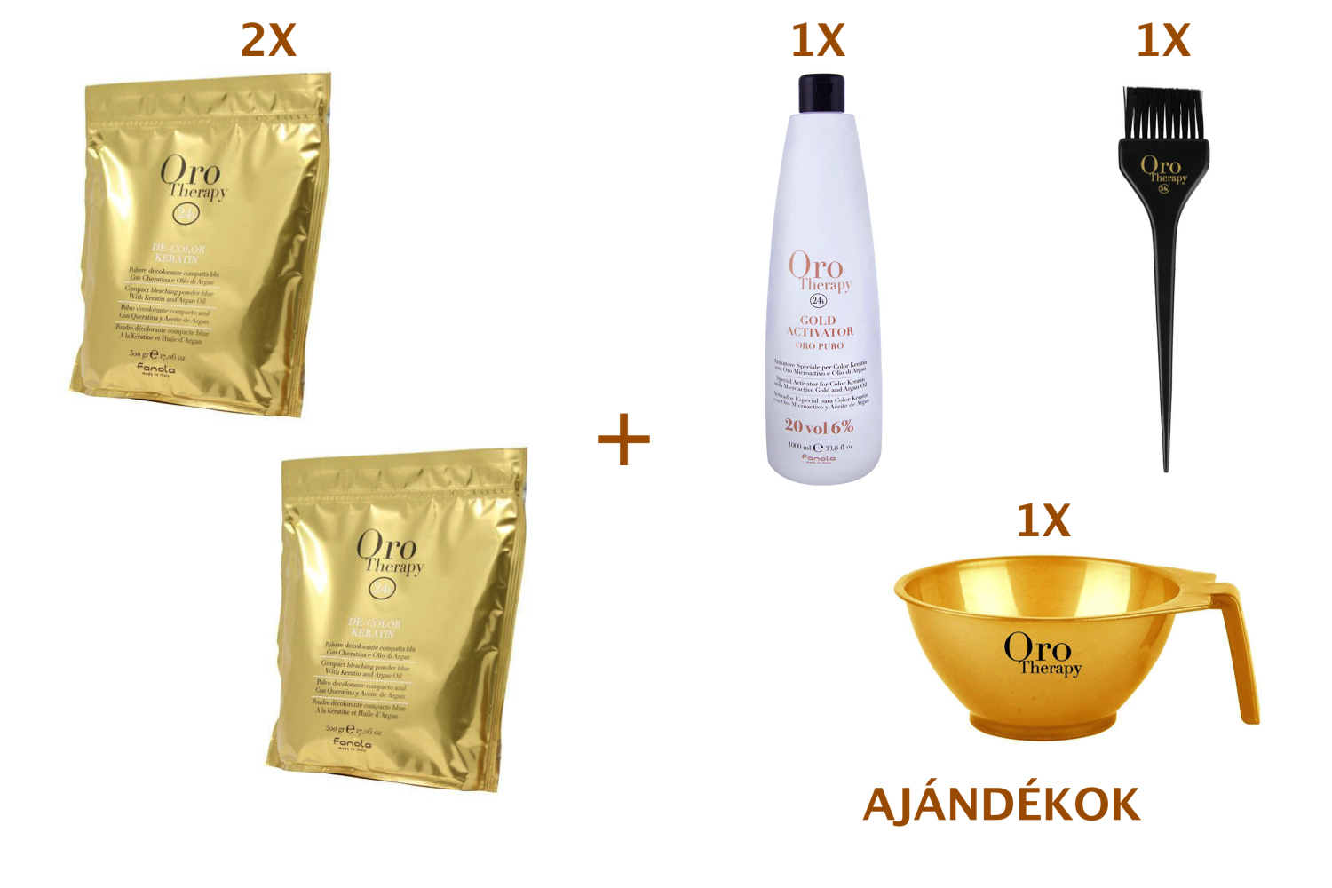 FANOLA ORO Therapy 24K Compact Bleaching Powder Blue 500 g 2+3 AKCIÓ