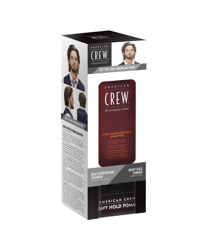 American Crew Get The Look Kit ( Daily Moisturizing Shampoo+Heavy Hold Pomade)