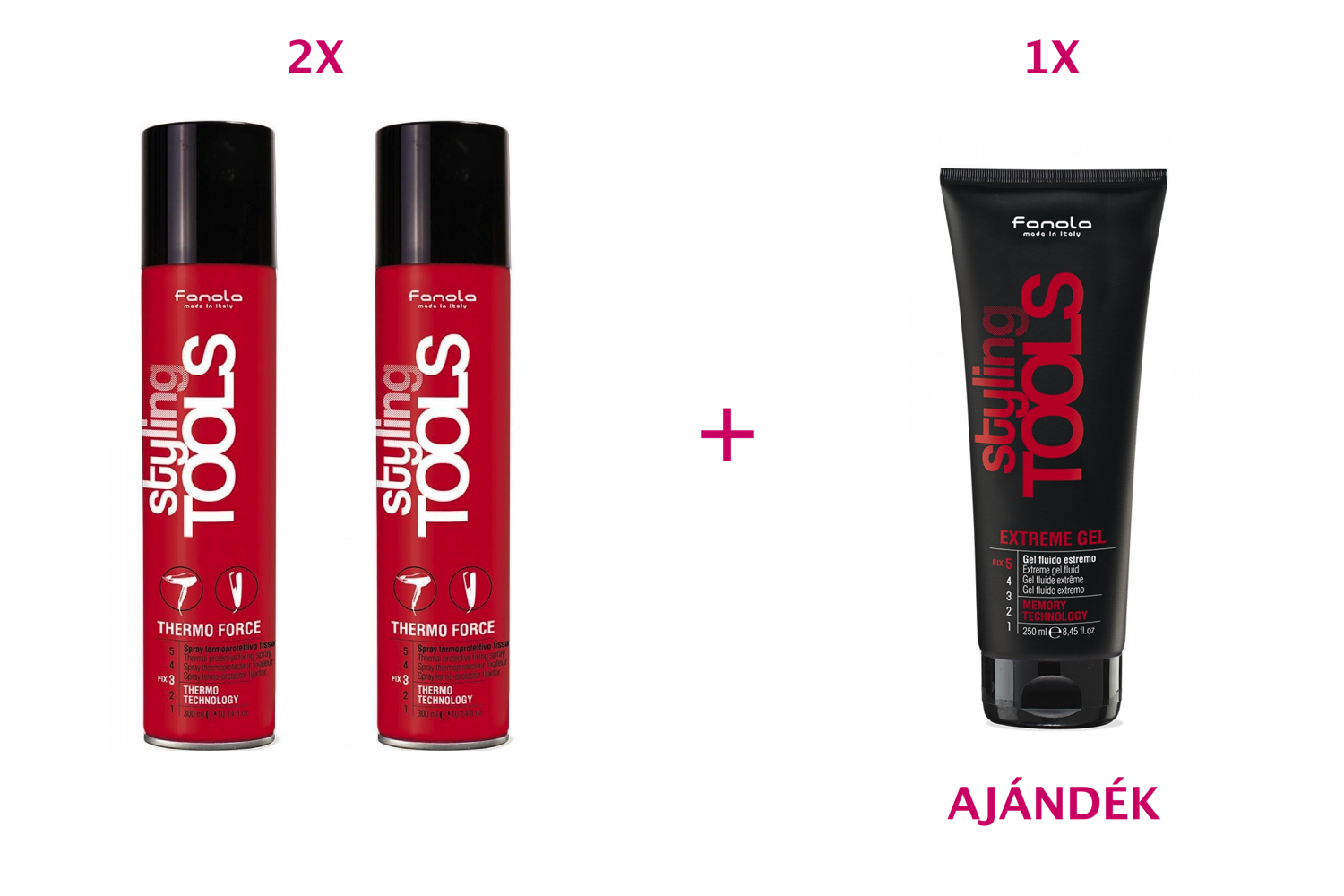 FANOLA Styling Tools Thermo Force 300 ml 2+1 AKCIÓ