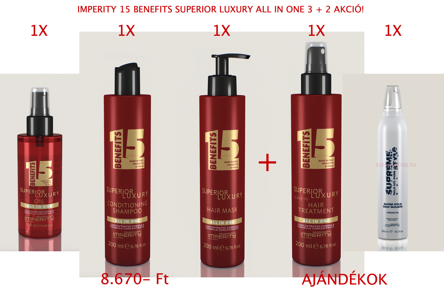IMPERITY 15 BENEFITS SUPERIOR LUXURY ALL IN ONE 3 + 2 AKCIÓ