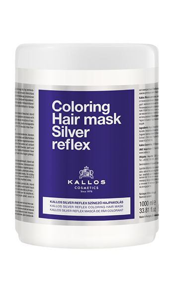 KALLOS Coloring Hair Mask Silver reflex 1000 ml