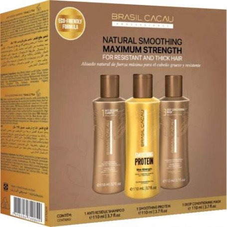 Brasil Cacau Natural Smoothing Maximum Strength szett 3 X 110 ml