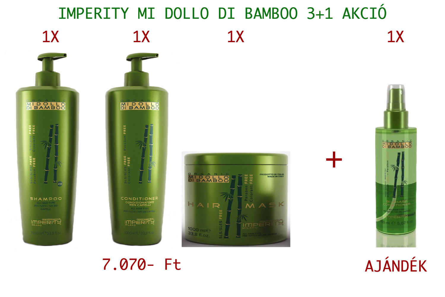 IMPERITY MI DOLLO DI BAMBOO 3 + 1 AKCIÓ