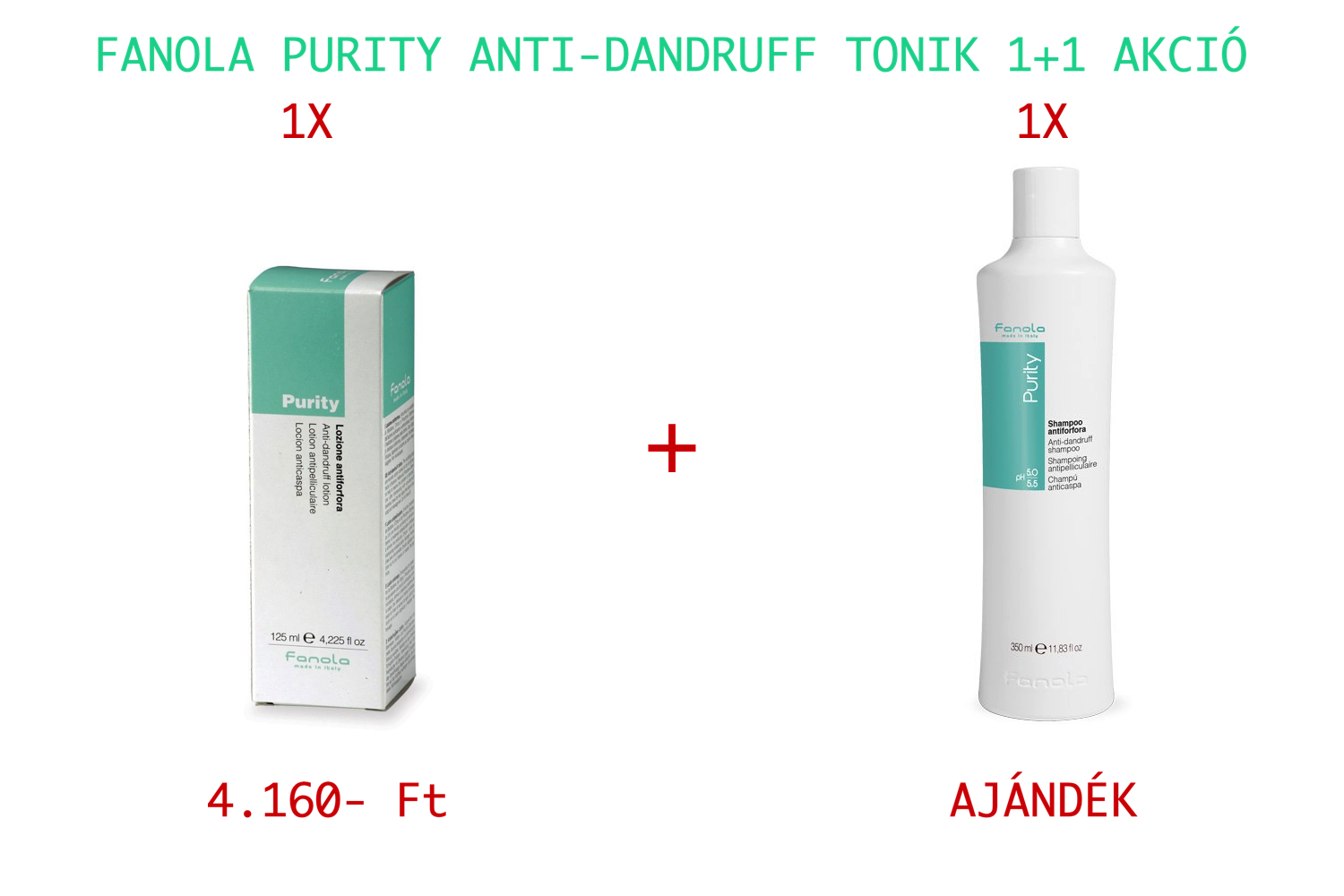 FANOLA Purity Anti-Dandruff Tonic 125 ml 1+1 AKCIÓ