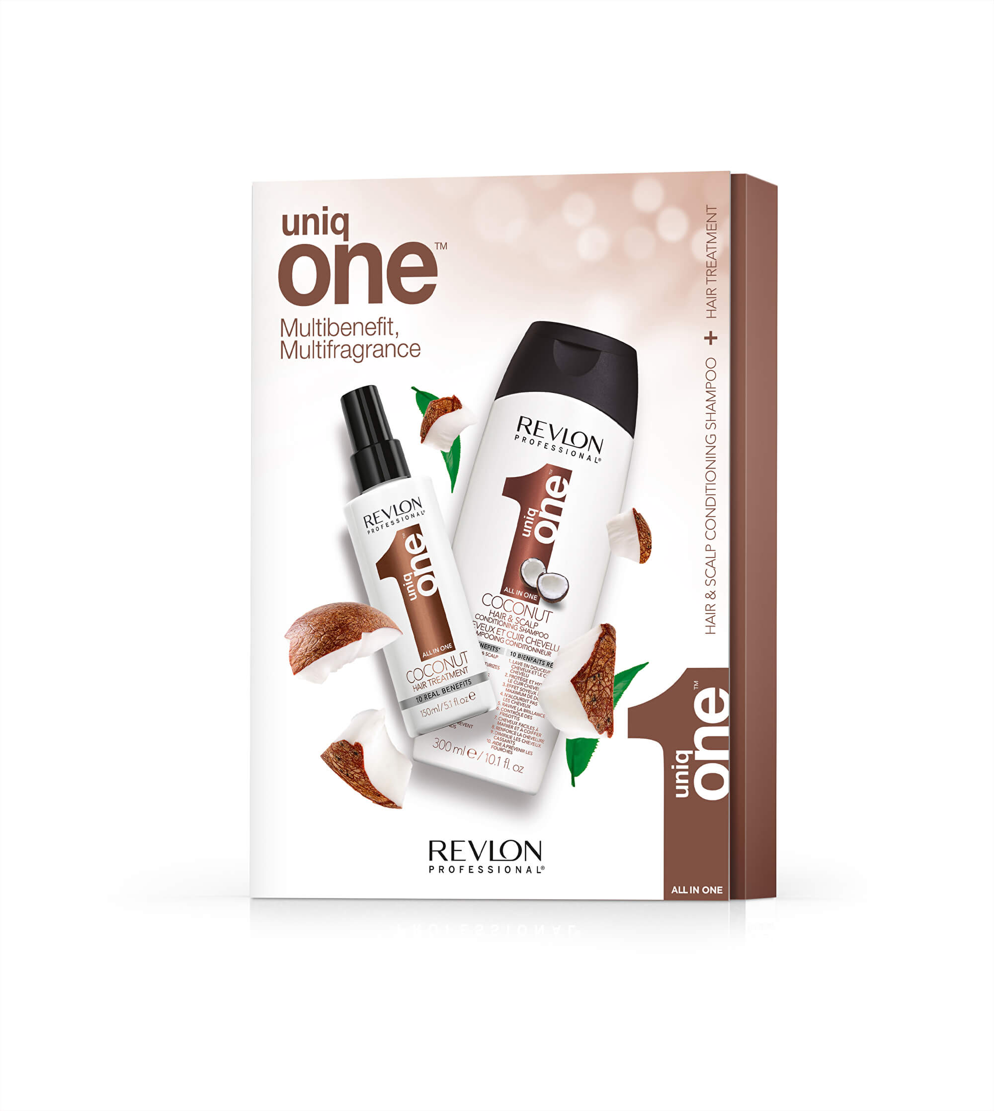 UNIQ ONE COCONUT SZETT (Uniq One Coconut 150ml + Uniq One Coconut Shampoo 300ml)