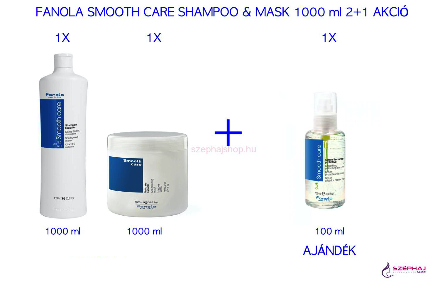 FANOLA Smooth Care Shampoo & Mask 1000 ml 2+1 AKCIÓ