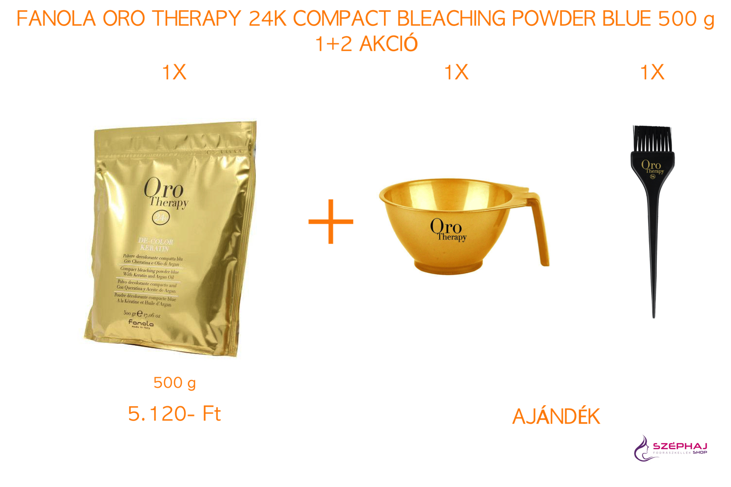 FANOLA ORO Therapy 24K Compact Bleaching Powder Blue 500 g 1+2 AKCIÓ