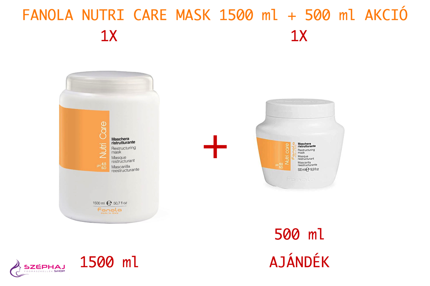 FANOLA Nutri Care Mask 1500 ml + 500 ml 1+1 AKCIÓ