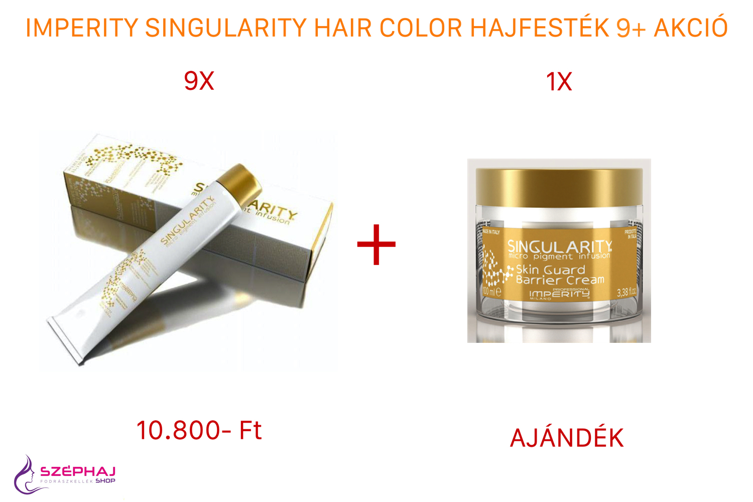 IMPERITY Singularity Hair Color Cream 100 ml 9+ AKCIÓ