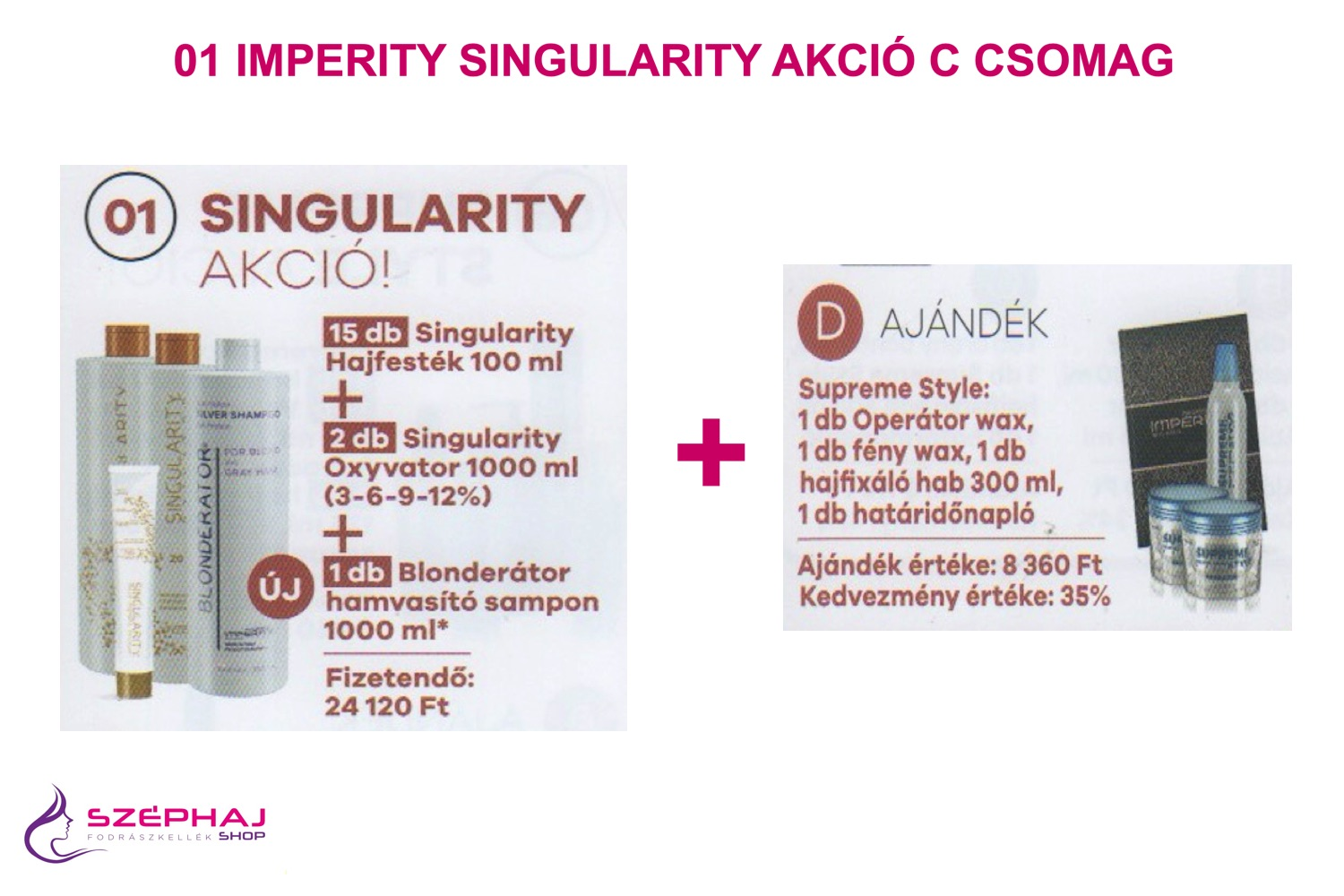 01D IMPERITY Singularity Hair Color Cream Akciós Csomag
