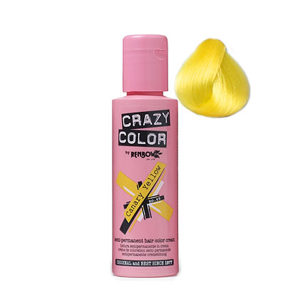 Crazy Color 49 Canary Yellow	100 ml (Kanári sárga)